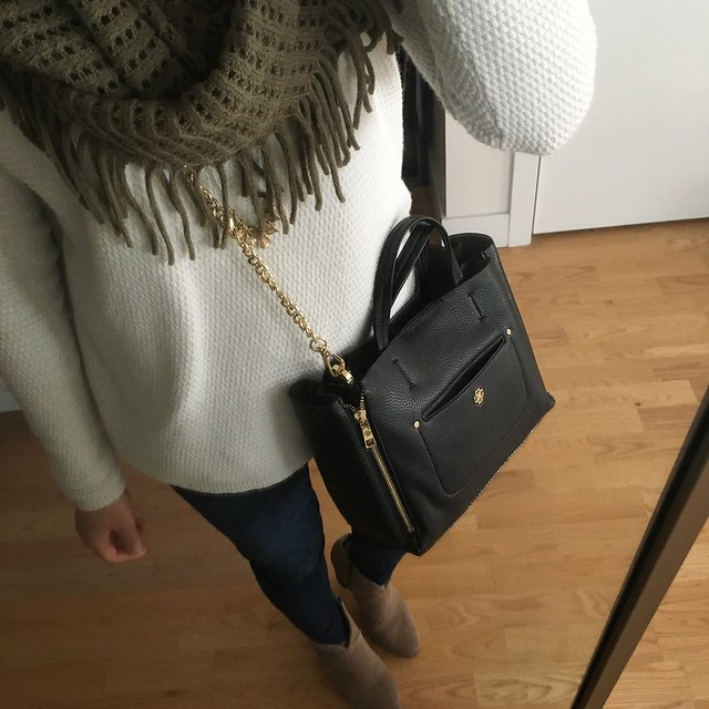 LOFT Shimmer Textured Sweater