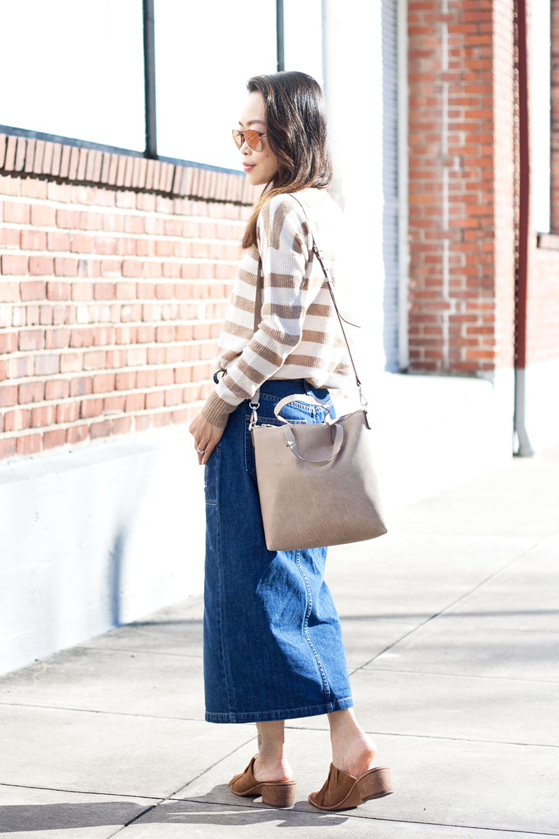 08madewell-denim-skirt-stripes-sweater-suede-mules