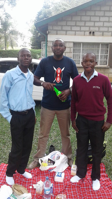 Collins with Mr Joe & his mentor