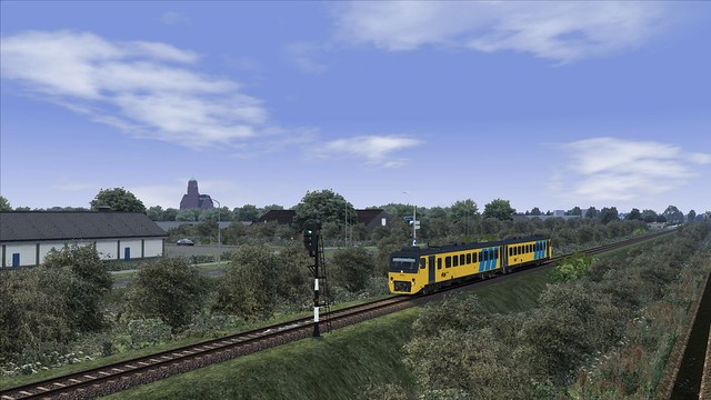 TS2016, IJlst DH2 wadloper train simulator