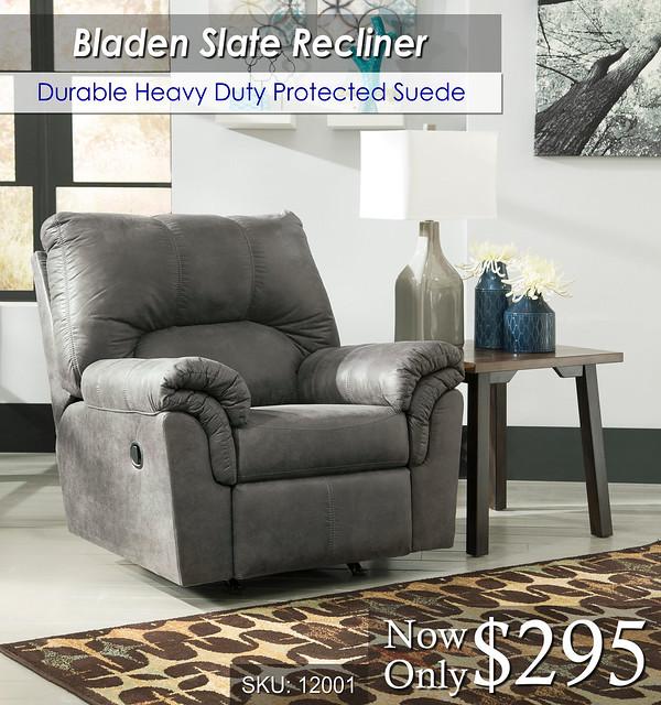Bladen Slate Recliner