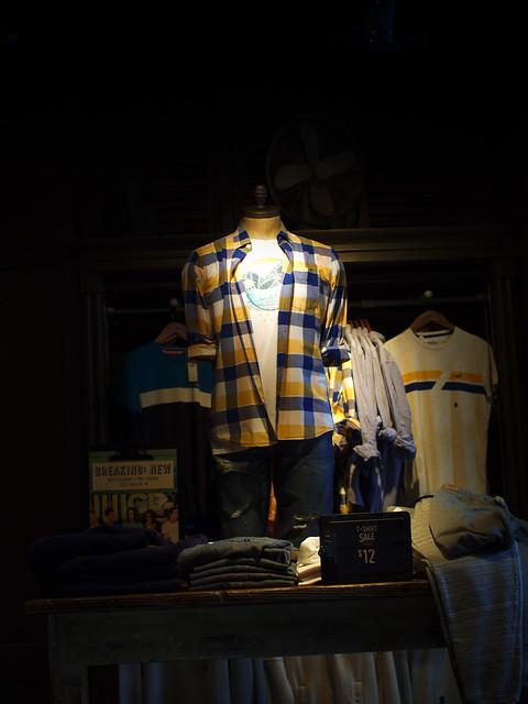 Men's Wear On Display