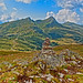 I am a rock. The Lauberhorn, the Mannlichen , the Kleine Scheidegg. A view from the Eigrer Trail. No. 7868. by Izakigur