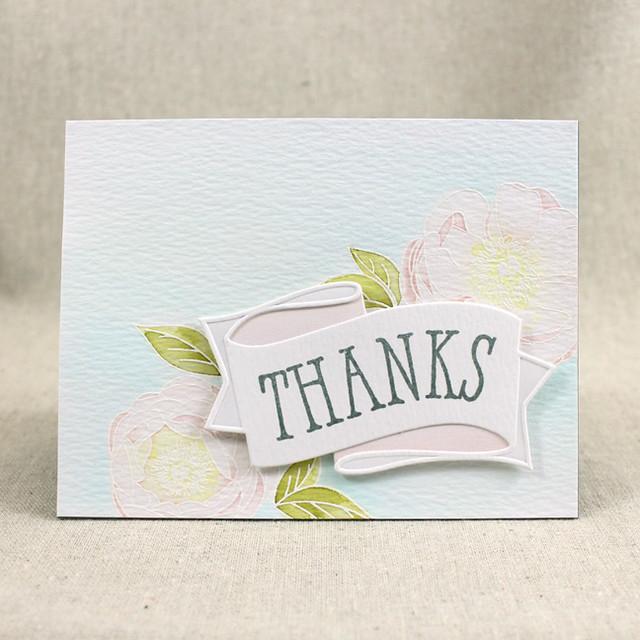 Peony Thanks Card
