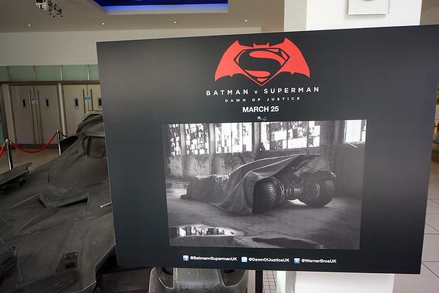 The Establishing Shot: BATMAN V SUPERMAN: DAWN OF JUSTICE BATMOBILE AT THE ODEON LEICESTER SQUARE - LONDON