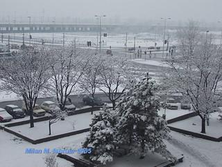 Ulica Milutina Milankovića, Novi Beograd, Beograd, Srbija, februar 2005