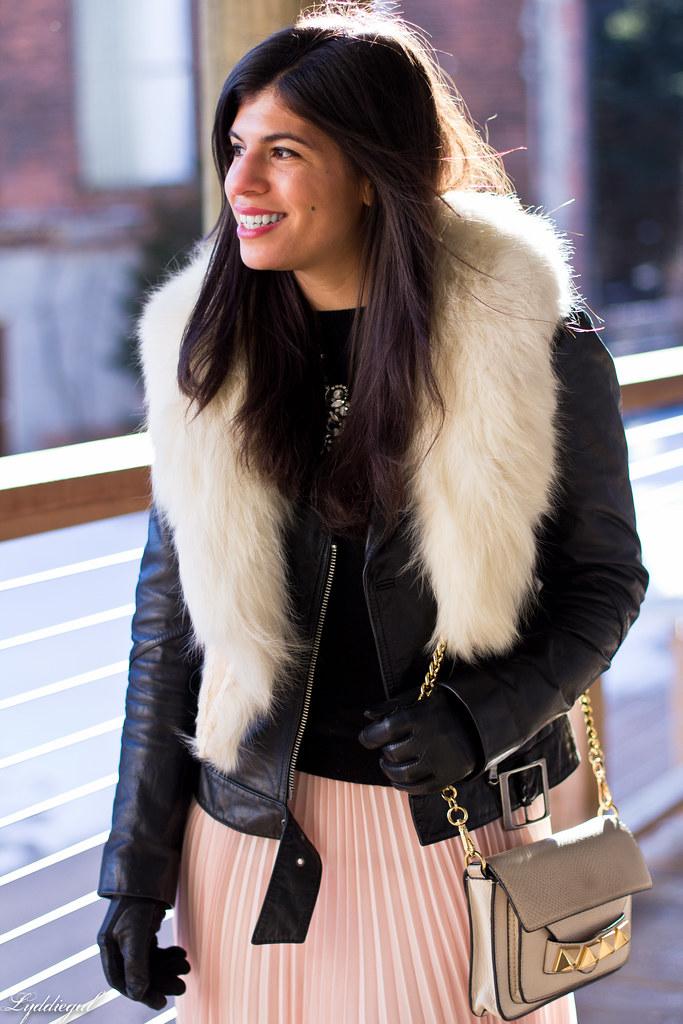 blush pleated maxi skirt, leather moto jacket, fur collar-5.jpg