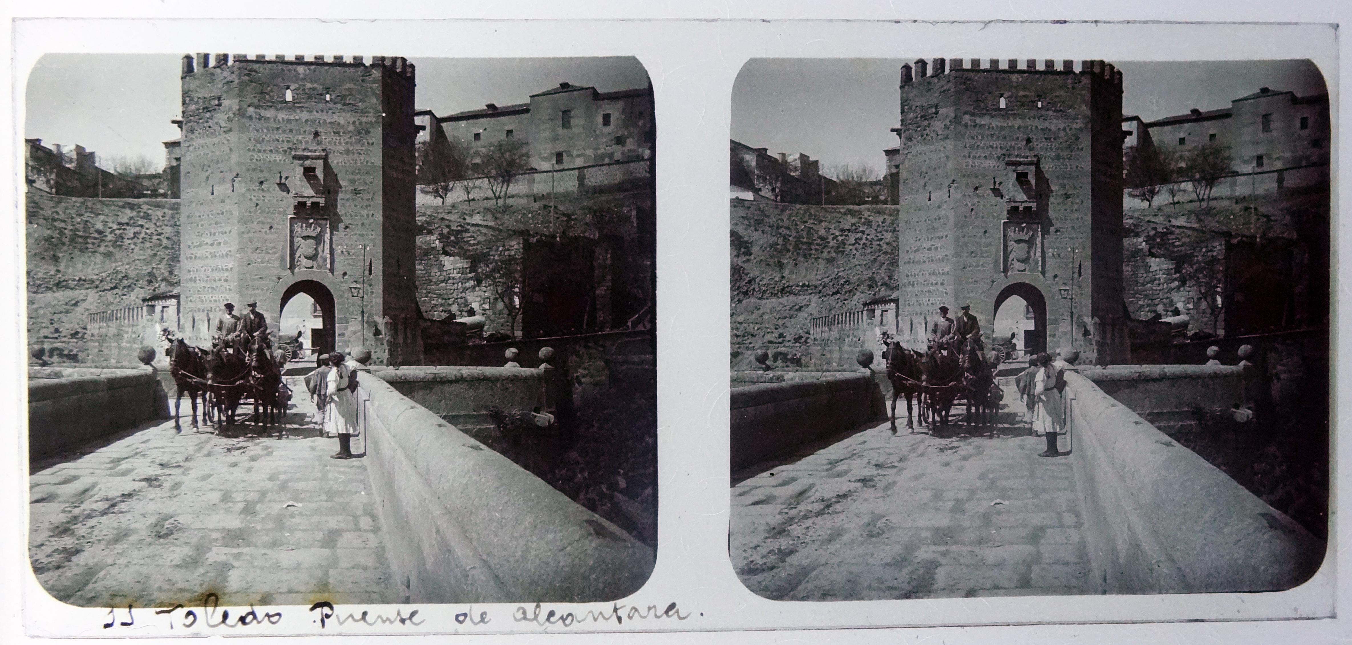 Puente de Alcántara. Fotografía de Francisco Rodríguez Avial hacia 1910 © Herederos de Francisco Rodríguez Avial