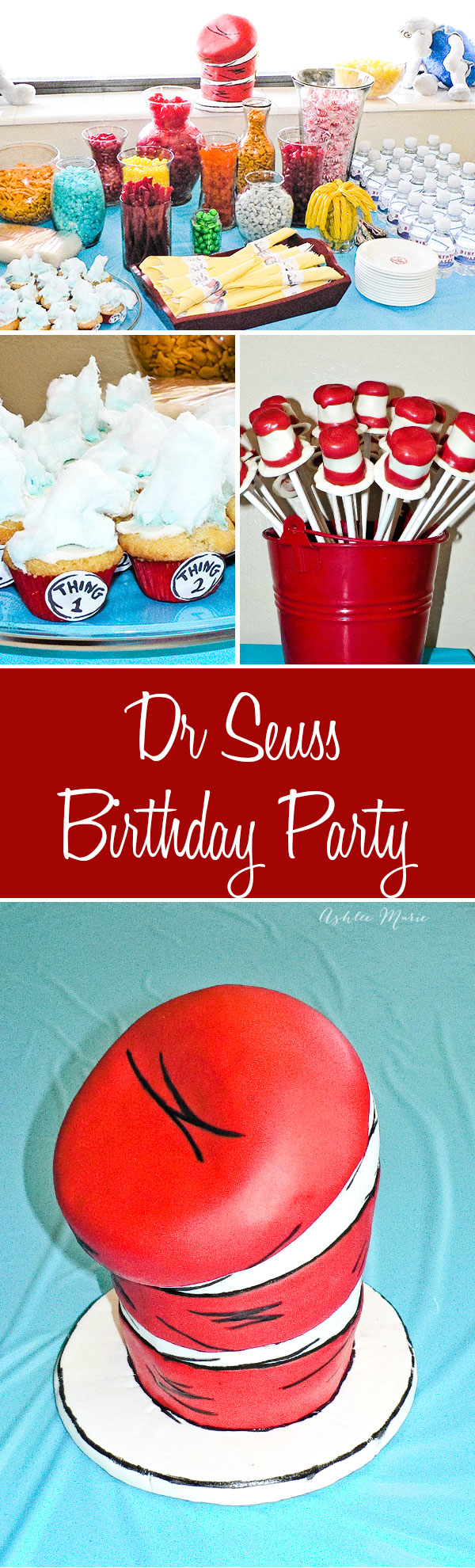 a fun dr seuss party, cake, food, invites, favors and more