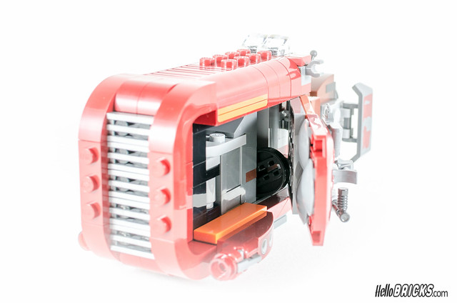 REVIEW LEGO Star Wars 75099 Rey's Speeder 19 - HelloBricks