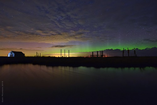 The aurora over Thornham in Norfolk