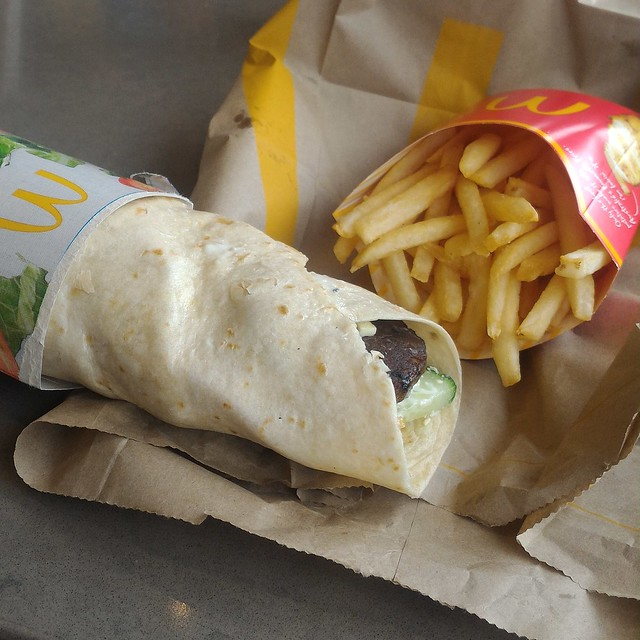 maccas lamb wrap for good friday