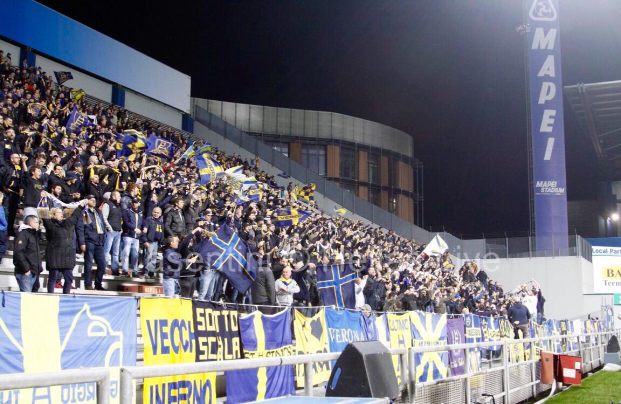 Sassuolo Verona 404 Tifosi Gialloblu Al Mapei Stadium Hellas Live