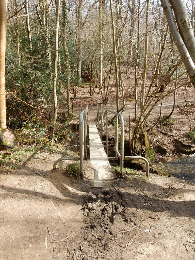Unusual footbridge Ashurst to Eridge