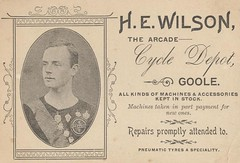 Business Card of Harold E Wilson  c.1890s (archive ref DDX1803-2)