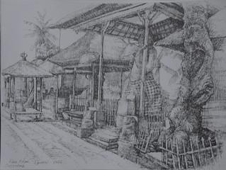 Ngakan Agus Artha Wijaya , Kebo Edan, 30 x 40 Pencil On Paper 2016