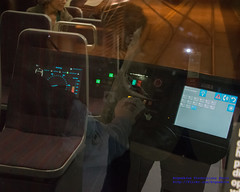 LOOKING INSIDE THE SEATTLE STREETCAR DRIVER CABIN
