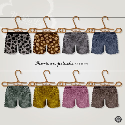 NuDoLu Shorts en peluche all colors AD