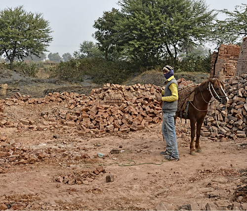 """""""For Simhastha, the livelihood of 1600 labourers from 35 brick kilns around Kshipra will be affected because the government has asked the brick kiln owners to shift to another location for two months"""", says 55 year old Raghunath Prajapati, a brick kiln owner."""