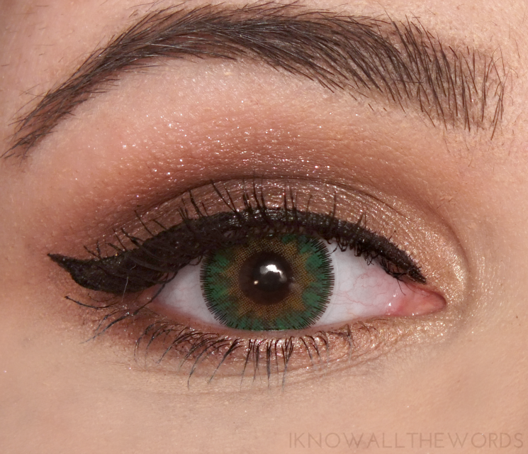 Spooky Eyes Dream Eyes Coloured Contacts Natural Green Floral (8)