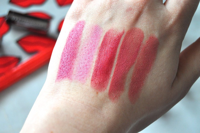 Urban Decay Revolution Lipsticks swatches