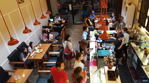 Main dining area | Dinner at Koffie Pauze at its new home at 100 Roxas Avenue Dormitory - DavaoFoodTrips.com