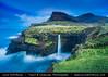 Faroe Islands - Vágar Island - Sorvagsfjorour - Sørvágsfjørður - Gásadalur & its famous waterfall