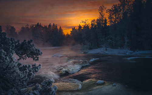 winter sunset finland river dark evening nikon rapids nikkor jyrki kotka d600 kymi 1635mm salmi langinkoski