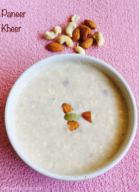 Paneer Kheer Recipe for Toddlers and Kids1
