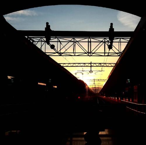 Alba alla stazione Termini