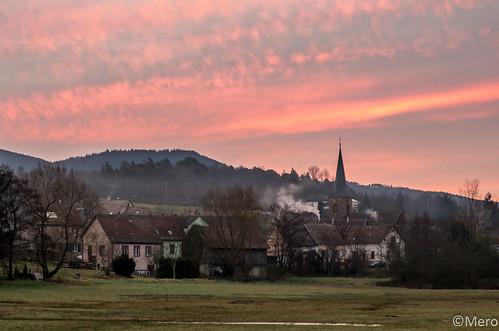 sunset france nature sunrise hiver paysage objet fr coucherdesoleil leverdesoleil saintmaurice villevillage alsacechampagneardennelorraine alsacechampagneardennelorrain