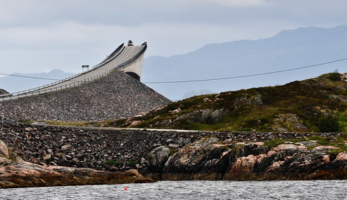 Storseisundet Bridge on the Atlantic Highway in Norway.
