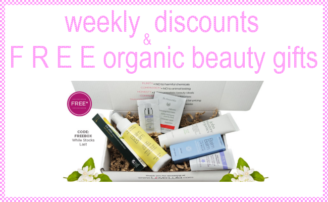 Weekly Discounts and Free Organic Beauty Gifts #55