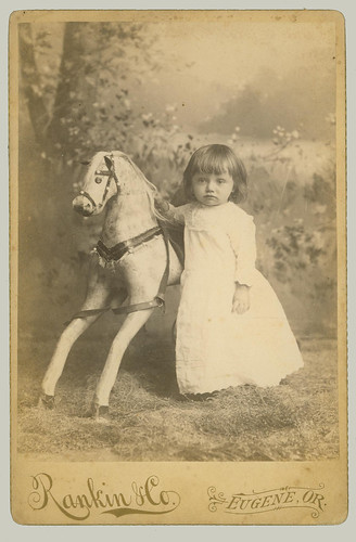 Cabinet Card Child with hobby horse