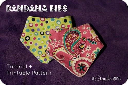 Newborn Bandana Bib Diy Printable Pattern Tutorial The Simple