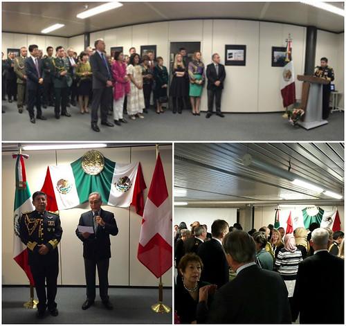 Celebración del Día del Ejército Mexicano y de la Fuerza Aérea Mexicana en Suiza