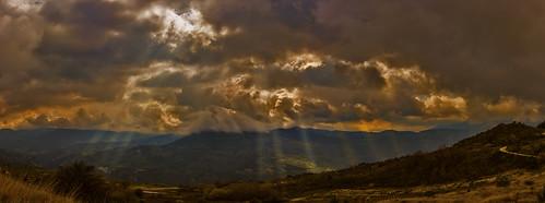 sun mountain nature clouds shine d 7200