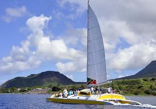 Half day catamaran tour with Blue Water Safaris on St. Kitts