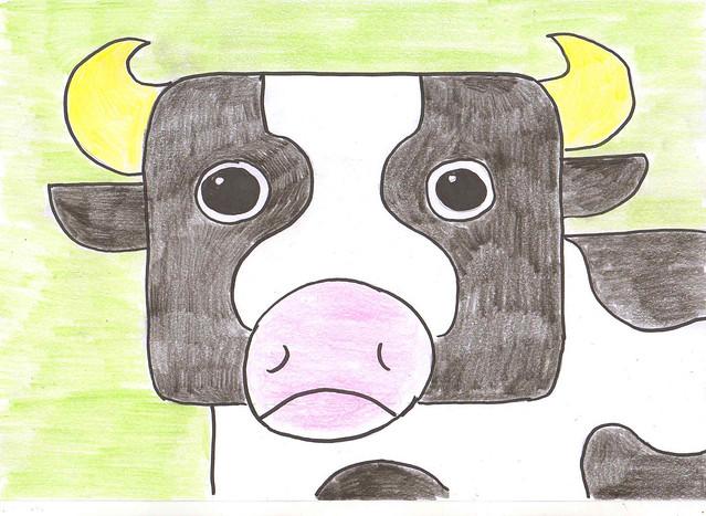 rectangle cow - v