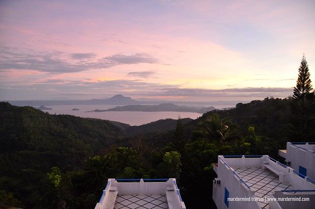 Sunset View of Taal Lake Estancia Resort Hotel