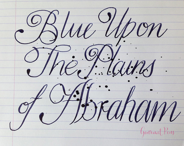 Ink Shot Review Noodler's Blue Upon The Plains of Abraham @CarolLuxury (9)