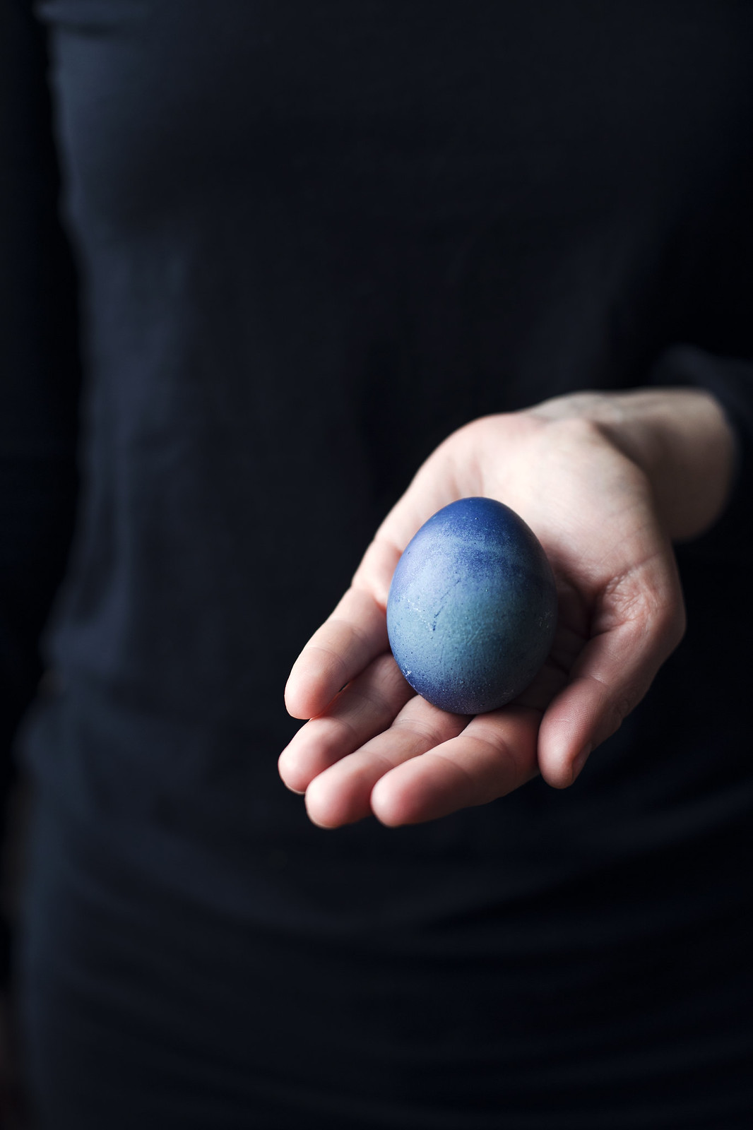 Färga ägg med blåbär