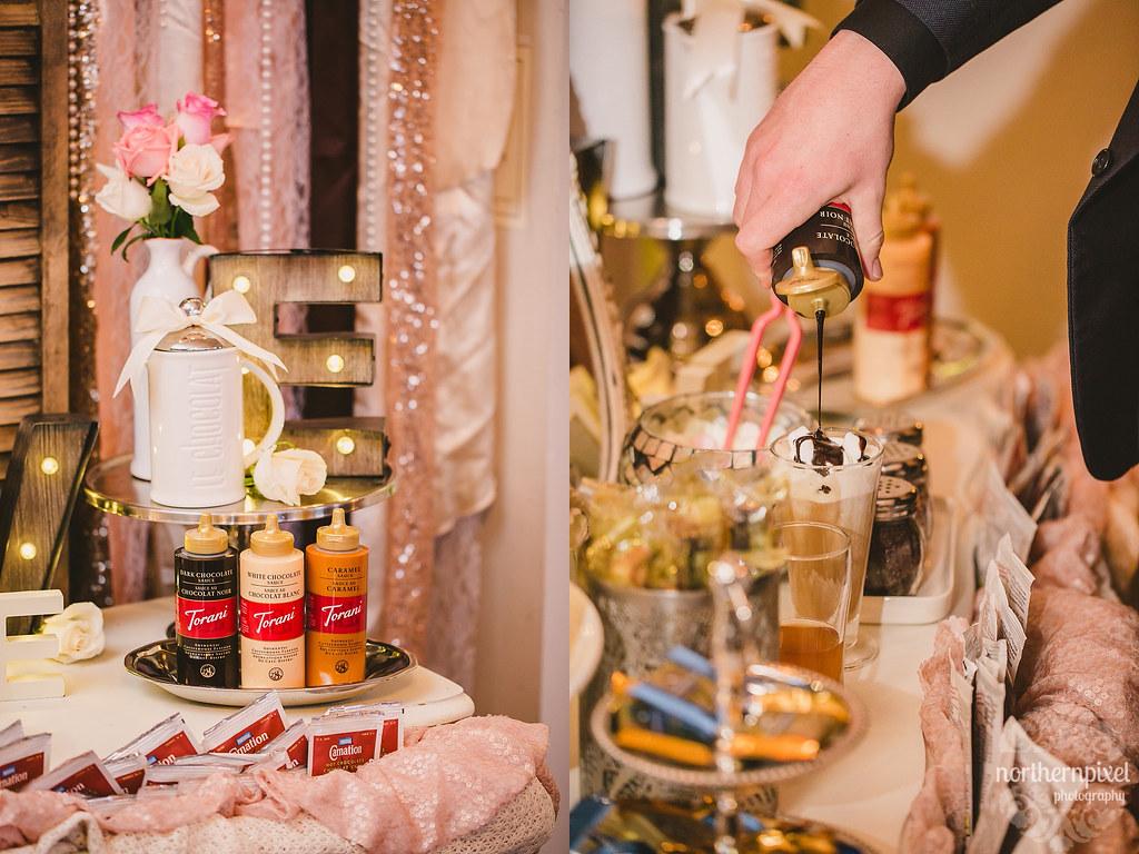 Hot Cocoa Bar - Hart Community Centre Wedding Reception