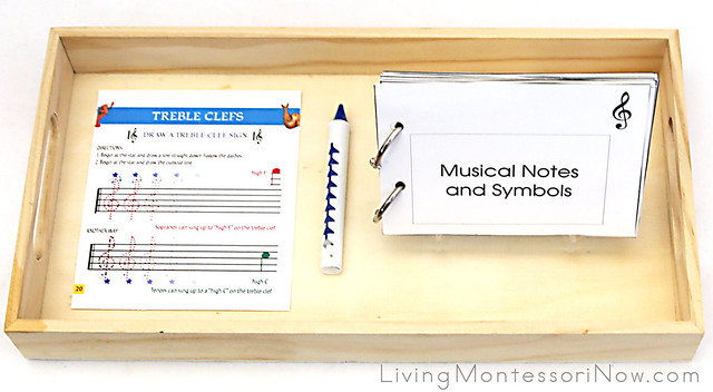 Treble Clef Drawing with Musical Notes and Symbols Book