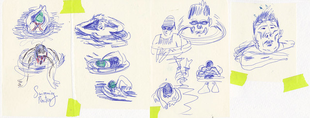 Sketchbook #95: Swim Team