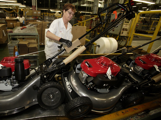 From Inside The Honda Plant Swepsonville Nc Lawn Mower