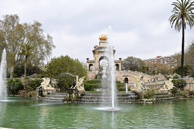 Fountain in Ciutadella Park