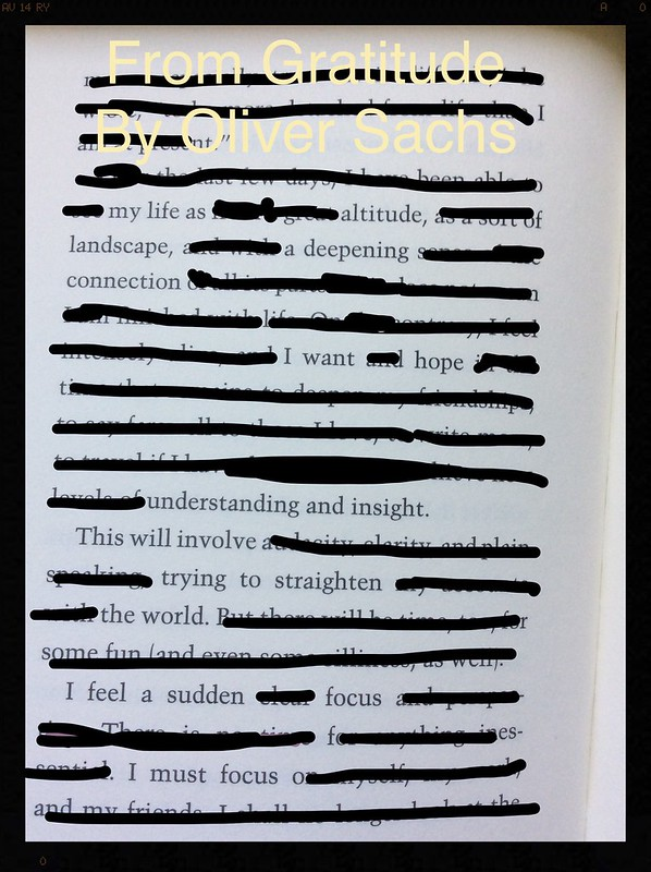 Blackout Poem: Gratitude