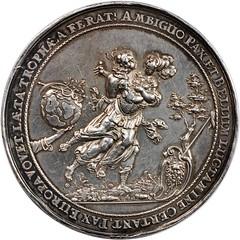 Danzig. Peace of Westphalia Silver Medal obverse