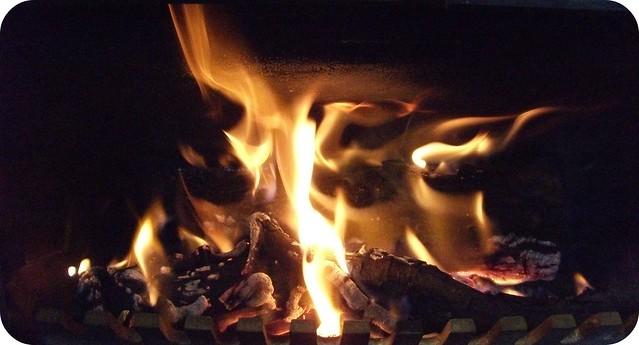 Log Fire Christmas